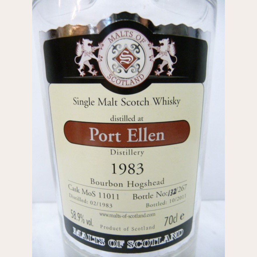 Port Ellen 1983 28y MoS cask 11011 58,9% 2cl Probe