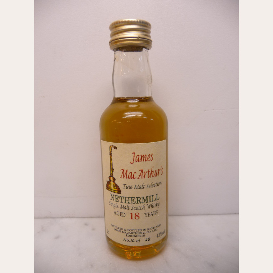 Nethermill 18y James Mcarthur's bottle 17 of 28 !! 43% 5cl Miniatur