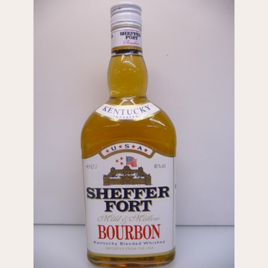 Sheffer Fort Blended Bourbon Whiskey 90er Jahre 40% 0,7l